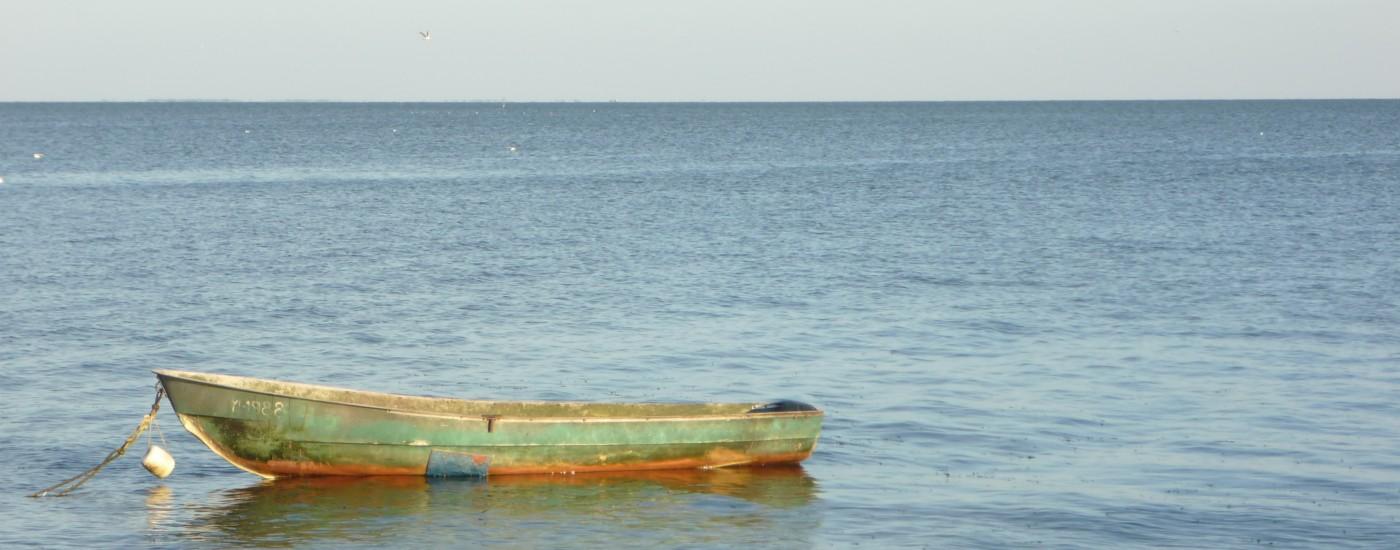 Mathilde mag das Boot im Meer
