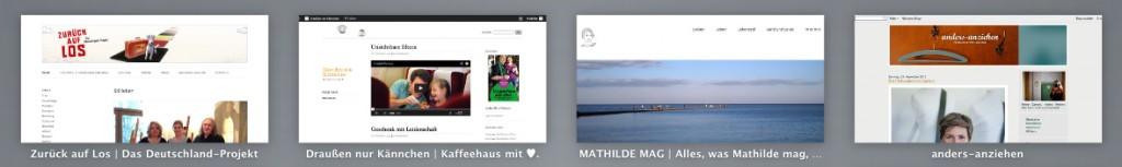 Mathilde mag ihre täglichen Blogs