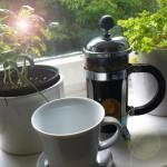 La vie est belle avec un café noir