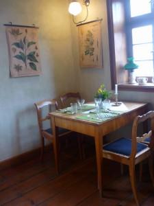 Essecke im grünen Zimmer