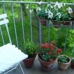 Mathilde mag ihren Balkon