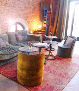 Wohnzimmer im Hotel im alten Hafenamt