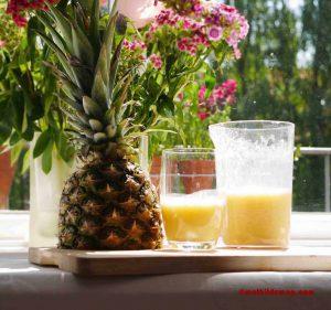 Ananas-Mandelmilch Belohnung