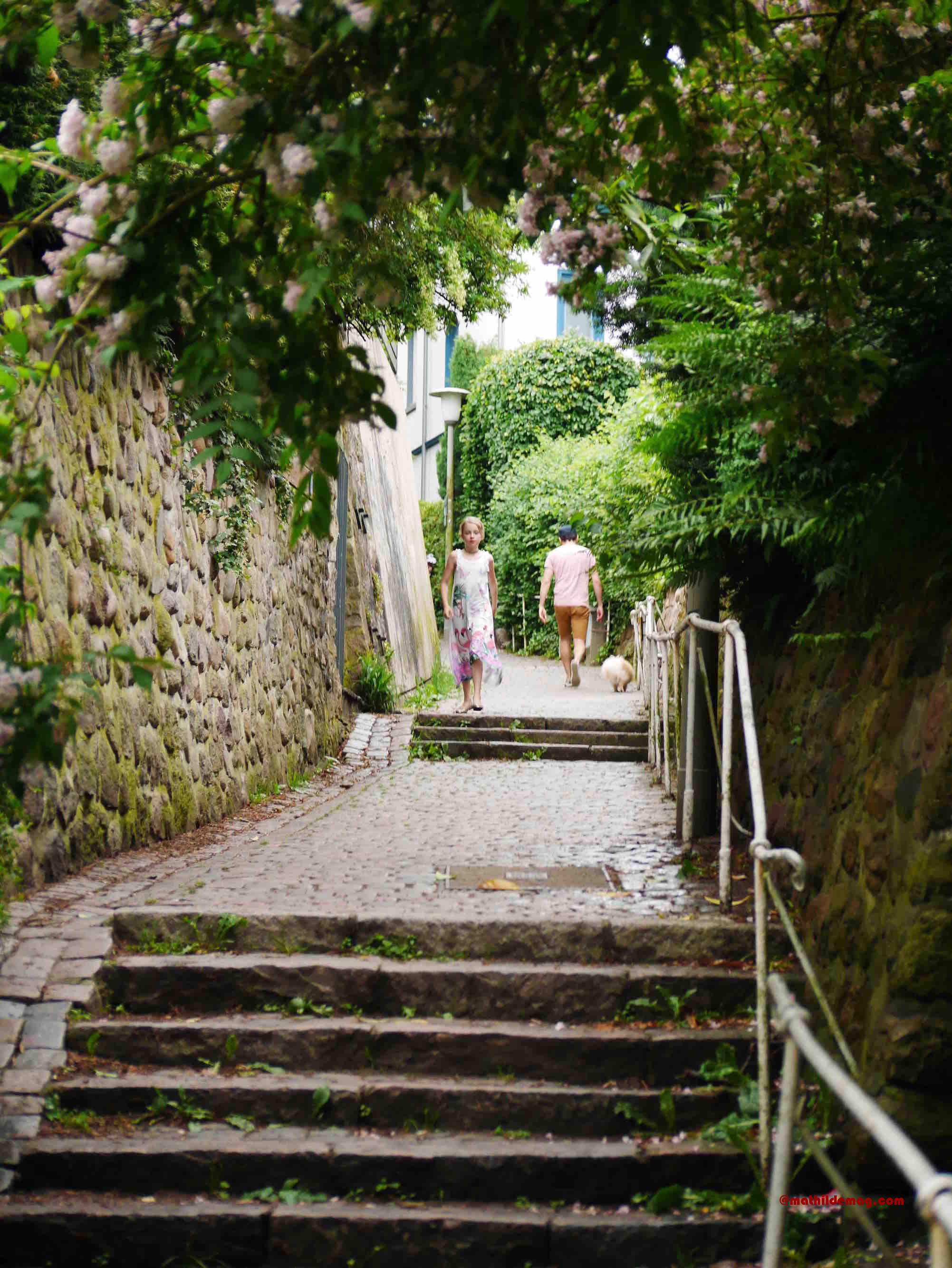 Treppenaufgang in Blankenese