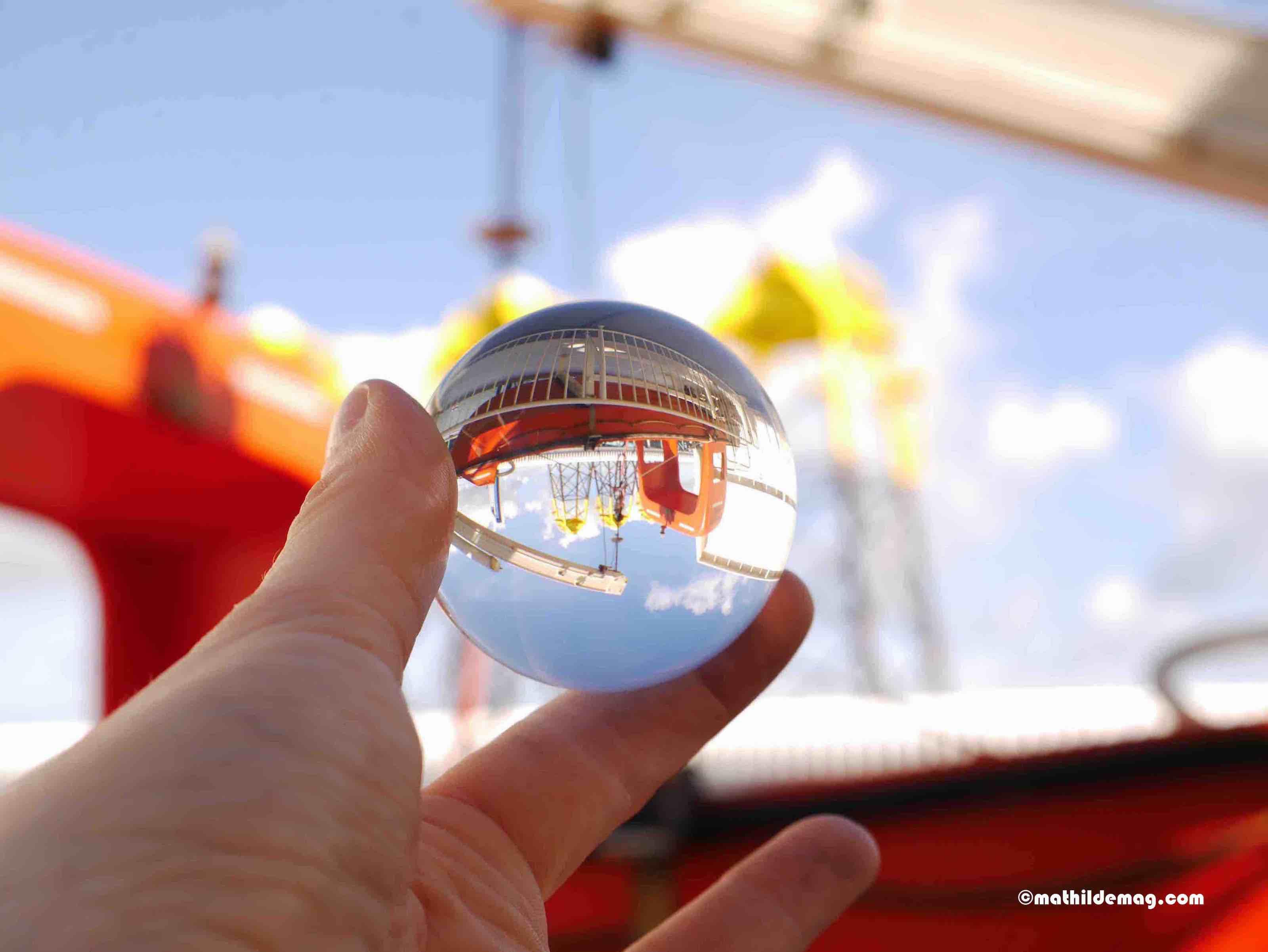 Rettungsboot der Fähre Kugelbild II