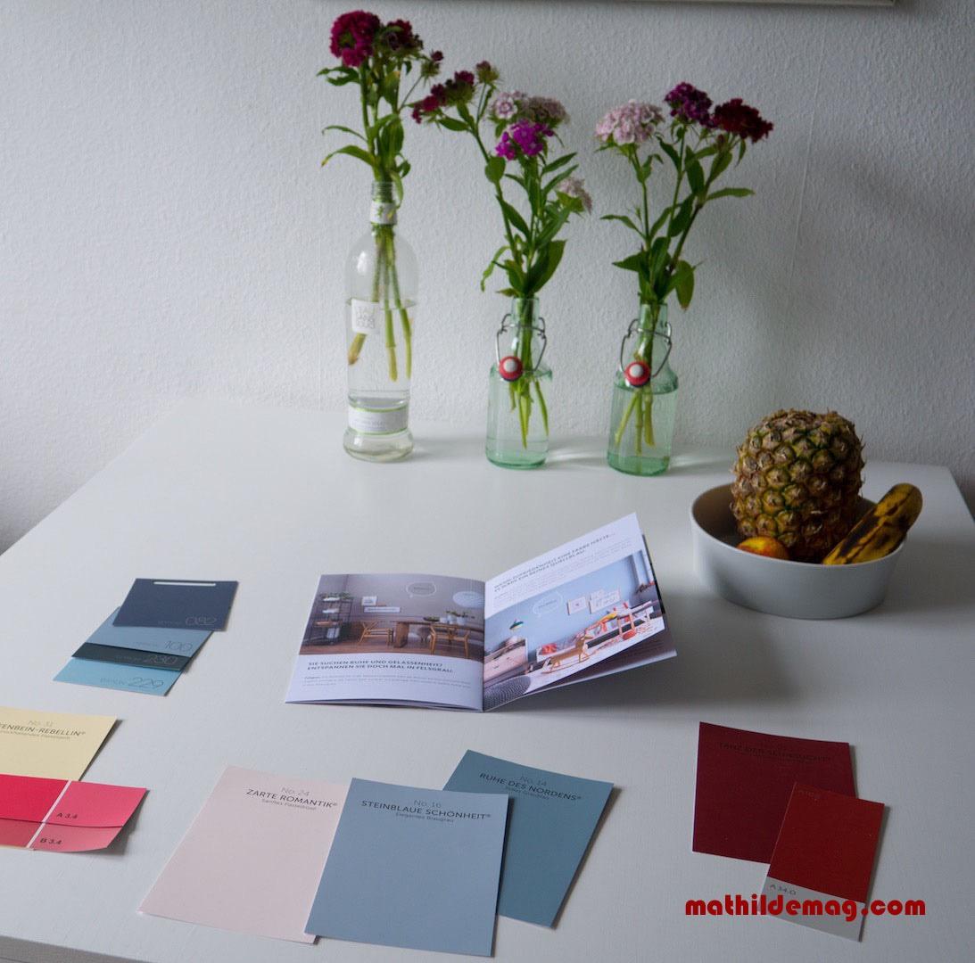 Blau, weiß, rot und andere drängende Farben